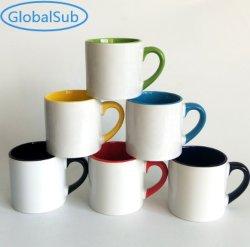 6oz interno & tazza rivestita di sublimazione di colore della maniglia per la foto resa personale