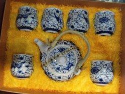 Pintado de azul de porcelana de estilo chino juego de té