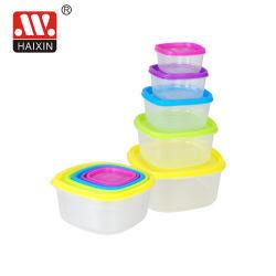 Freier Nahrungsmittelplastikbehälter mit bunten Kappen