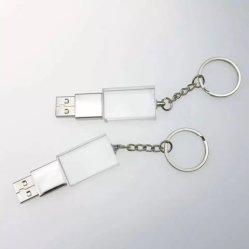 Keychainの水晶USBのフラッシュ駆動機構4GB 8GB 16GB 32GBの64GBによってブラシをかけられる水晶ペンUSB