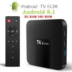 Tx3 Mini caixa de TV inteligente 1GB+8GB 2GB + diafragma de 16 GB Amlogic S905W Quad Core Android Market 8.1 Set Top Box