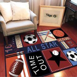 야구/축구/럭비/농구 경기 스포츠 스타일 카펫 매트를 위한 어린이 키즈 침실 거실