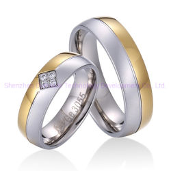روز كوارتز سعر خاتم الذهب الأبيض خاتم الحجر الأزرق المجوهرات