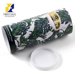 Ecológica Fsc 4c de tubo de papel de impresión tejido Facial Caja de papel de embalaje