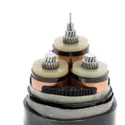 موصل 35kv 3X120 من الألومنيوم XLPE Insulated Steel Tape المدرعة PVC الكابل الكهربائي سالب