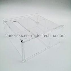 Titulaire d'affichage cosmétiques portatif en acrylique en acrylique transparent l'organisateur de stockage de maquillage