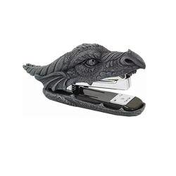 O OEM engraçado dragão de resina de desenhos animados da cabeça do grampeador Encadernação em forma de animal