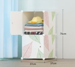 Armario de plástico con Perchero plástico poste DIY Armario armario guardarropa, Sala Venta