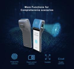 بطاقة NFC المحمولة باليد، الجهاز الطرفي لنظام Android POS مع طابعة حرارية