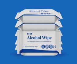 Doden 99.9% van de Alcohol van 75% Niet-geweven Nat van het Virus veegt af