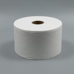 Spunlace Nonwoven rollo de tela poliéster viscosa Material para toallitas húmedo/seco Tejido sin tejer fábrica Proveedor