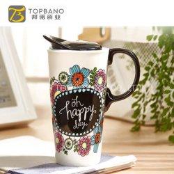 Un nouveau tissu osseux de la céramique céramique 600ml tasses à café tasses Tasses de promotion de sublimation personnalisé
