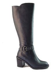 Artesanales de alta calidad de la rodilla zapatos de tacón alto botas altas botas de mujer