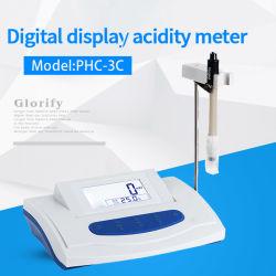 Pantalla LCD de alta precisión del medidor de pH digital de precisión de Tester 0.01