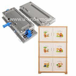 Hogar puerta doble cajón molde molde de inyección de plástico para mueble