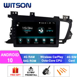 Witson Octa-Core Android 10 автомобильное радио для Android KIA 2011-2014 K5/Optima 4 ГБ оперативной памяти 64Гб точкахи встроенный регистратор/DAB/БСД