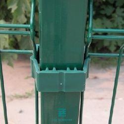 De vierkante PostPosten van de Omheining van het Metaal voor het Schermen van Poort 60X60mm van de Omheining van de Tuin van het Comité
