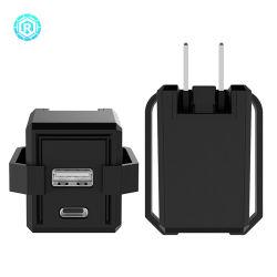 18W Typec USB portátil rápido carregador de viagem para o telefone celular