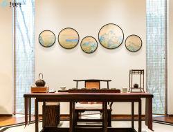 Decoratieve 400mm 500mm 600mm glas-Schildert van de Kunst van het Landschap van de Cirkel (M.-yb6-2053)