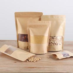 Толстая бумага Kraft Самонесущее уплотнение Сумка гайка чай Пищевая упаковка Сушеная сумка с фруктами