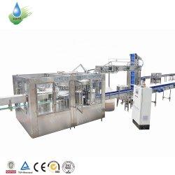 L'eau minérale liquide automatique pur jus de fruits Boisson gazeuse de la machine de traitement de l'embouteillage PET/bouteille en verre de plafonnement et de remplissage de Lavage machine de conditionnement