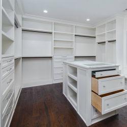 현대적인 흰색 벽장 캐비닛 침실 가구 옷장 산책