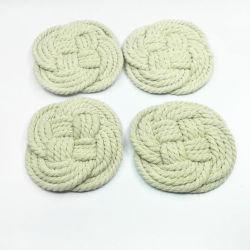 Tejido de algodón a mano Alfombras mesa Vajilla Servilleta Coaster aislamiento Pad