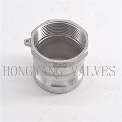 Hongwang из нержавеющей стали промышленных/санитарных женского резьбовой тип адаптера трубный фитинг эксцентриковым затвором (HW-AT 1001)