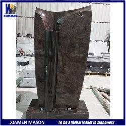 Commerce de gros Big Double couleurs noir et de pierres de granit rouge Memorial
