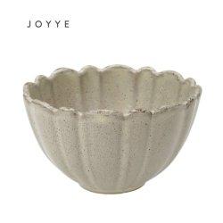 Grau Reaktiv Glasur Blume Form Keramik Schüssel Reis Schüssel