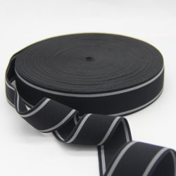 Kundenspezifischer breit 40mm Nachahmung-Nylonjacquardwebstuhl-elastisches gesponnenes Band/gewebtes Material