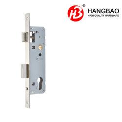 Puerta de acero inoxidable estándar europeo de seguridad de 30mm Backset 8530 Zinc hierro latón del tornillo de bloqueo de la puerta de pestillo de la balseta cuerpo Accesorios 8500-30-AA