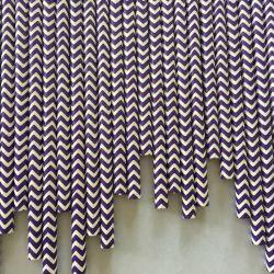 Feest Versierd Purple Chevron Papier Straws