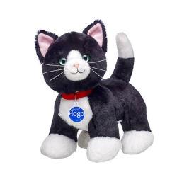 L'usine OEM farcies mignon petit jouet en peluche cat/Super gros yeux Chat Noir peluche pour la vente
