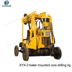 Xyx-3 bomba de lodo tipo de remolque de Perforación de Pozo de agua barrenadora