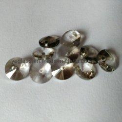 Forma redonda de microesferas de vidrio de alta calidad cristales posterior plana