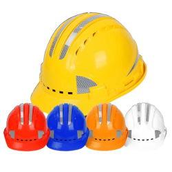 Hi Vis ABS Reflective Safety Helmet 4-punts goede kwaliteitverstelbaar Modieuze en ademende harde hoeden