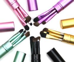 Reis 5 Borstels van de Make-up van de Borstel van de Make-up van PCs de Vastgestelde Synthetische Mini met Zak