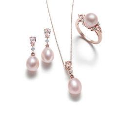 Silberne Schmucksache-gesetzte echte Perle der Form-Schmucksache-925