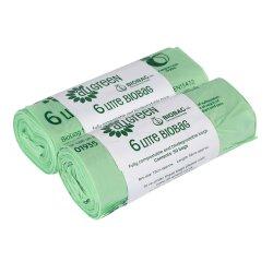 Fr13432 naturel vert la fécule de maïs biodégradable sac compostable 100 % de la corbeille