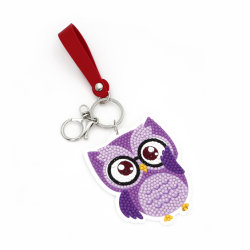 Commerce de gros d'enfants Bricolage cadeau promotionnel Owl acrylique jouet éducatif créatif de chaîne de clé