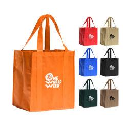 Pliage feuilleté promotionnels personnalisés écologique un sac de shopping Non-Woven réutilisables longue poignée pliable Sac promotionnel