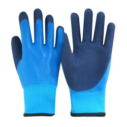 ANSIは手の保護手袋のための5つのHppeナイロンポリエステル綿によって塗られたニトリルの乳液の安全産業働く手袋を切った