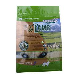 Support de qualité alimentaire jusqu'à fermeture à glissière plastique laminé sac d'emballage des aliments pour animaux de compagnie