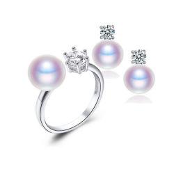 Silberne Schmucksachen der Süßwasser-Perlen-925 eingestellt mit CZ