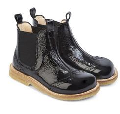 Les enfants noirs personnalisée en usine de Guangzhou Chaussures Bottes en cuir
