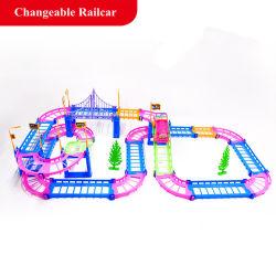 Electric Racing Carro Ferroviário Kids Modelo via ferroviária via ferroviária de Bebé Brinquedos Racing o transporte rodoviário a construção de conjuntos de Slot