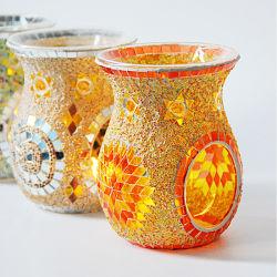 Nueva llegada Girasol mosaico vidrio Horno de Casa Aromaterapia velas lámpara de aceite refinado Spa Club