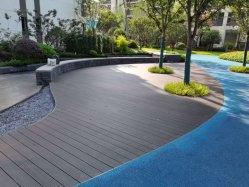 Les matériaux de construction de bambou terrasses avec une profonde carbonisé petite rainure Flooring