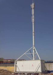 De gegalvaniseerde GSM Mobiele Toren van de Telecommunicatie van het Staal van het Rooster Guyed